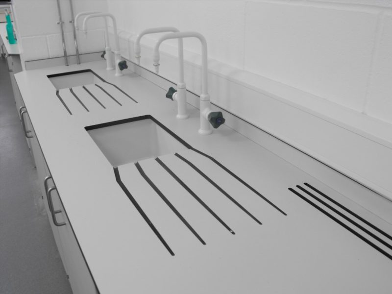 University of Derby T102 and T103 - Laboratory Furniture - Sinks Lab Taps