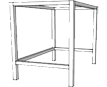 Free Standing Table Leg Frame System