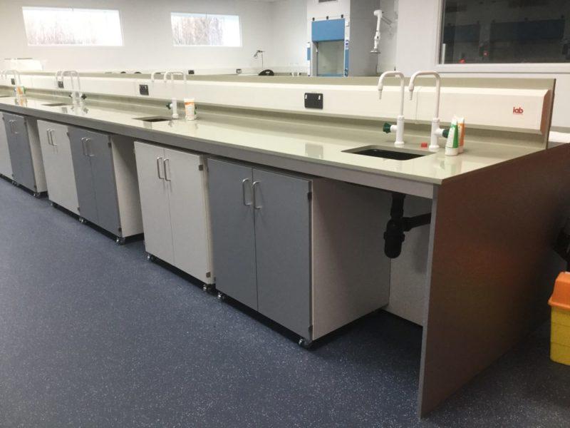 C5005 - Conwy - North Wales - Laboratory Refurbishment - Lab Workspace Cabinets Taps Sinks Plug Sockets