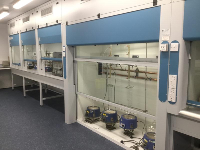 C5005 - Conwy - North Wales - Laboratory Refurbishment - Fume Cupboard Plug Sockets