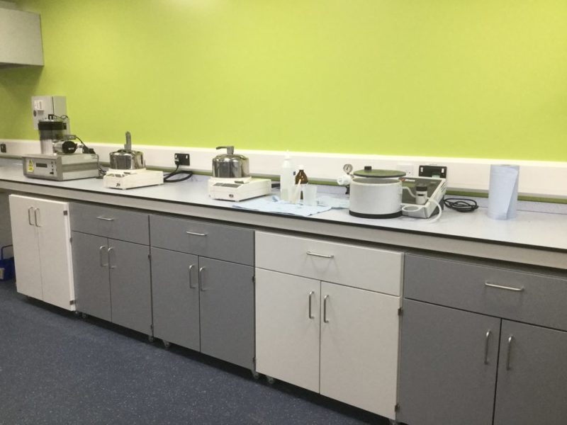 C5005 - Conwy - North Wales - Laboratory Refurbishment - Lab Workspace Cabinets Cleaning Chemical Lab Equipment
