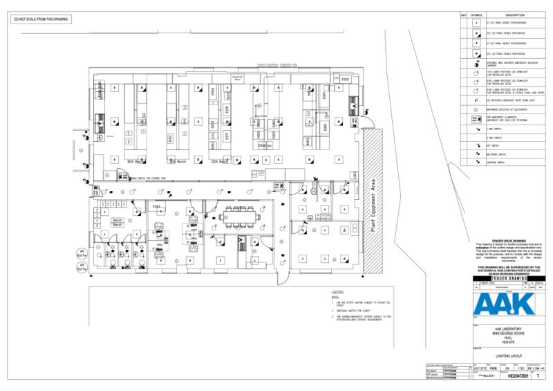 C5010 - AAK - QC Laboratory Design - Lighting