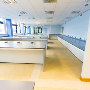 Natural Resources Wales - Lab Design and Refurbishment - Lab Table Plug Socket Air Vents