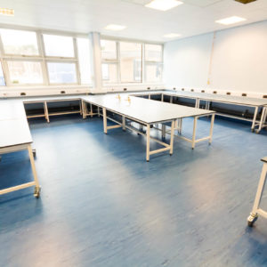 Natural Resources Wales - Lab Design and Refurbishment - Lab Tables Plug Sockets Gas Taps