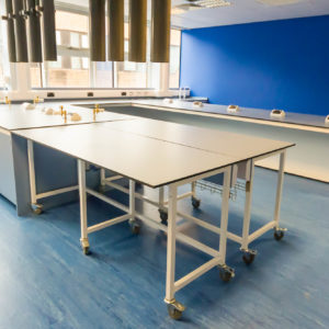 Natural Resources Wales - Lab Design and Refurbishment - Equipment Extraction Points Plug Sockets Tables
