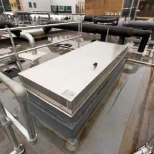 Natural Resources Wales - Lab Design and Refurbishment - Lab Pipes Roof Access Hatch