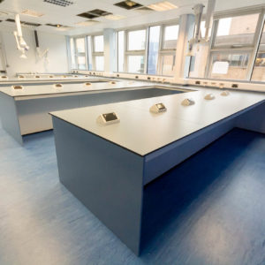 Natural Resources Wales - Lab Design and Refurbishment - Plug Sockets Lab Table