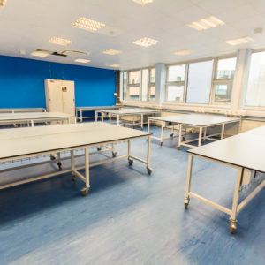 Natural Resources Wales - Lab Design and Refurbishment - Laboratory Workspace Cabinets Gas Pressure Gages