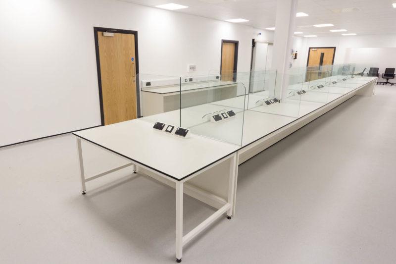 C5147 - Alere Abingdon - Unit 21 - Warehouse Laboratory Convertion Refurbishment - Plug Socket Lab Bench Door Office Chairs