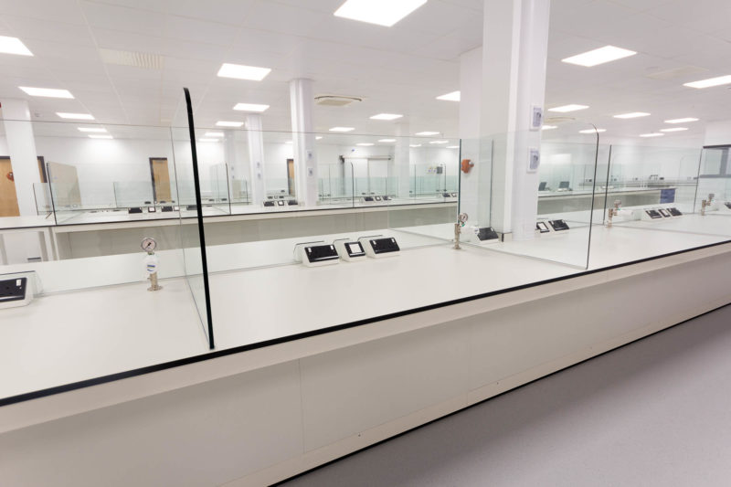 C5147 - Alere Abingdon - Unit 21 - Warehouse Laboratory Convertion Refurbishment - Plug Sockets Gas Taps Lab Work Space Doors