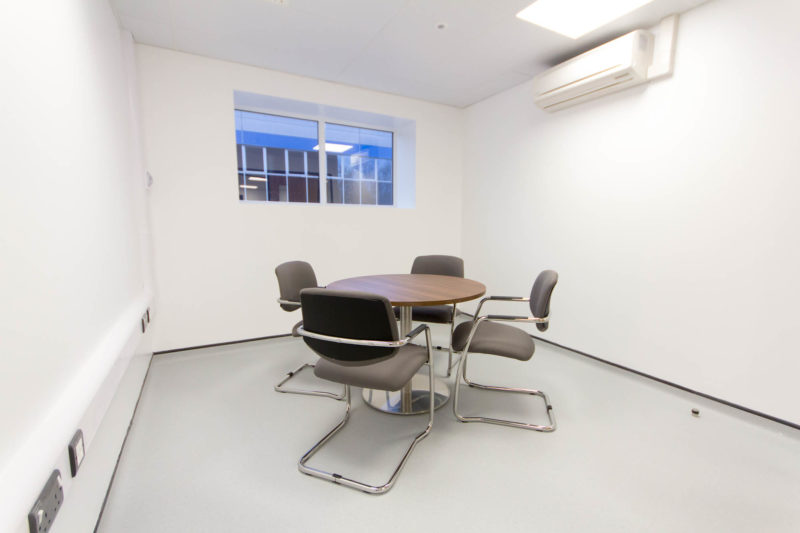 C5147 - Alere Abingdon - Unit 21 - Warehouse Laboratory Convertion Refurbishment - Conference Room Sir Conditioning Office Chairs Plug Sockets