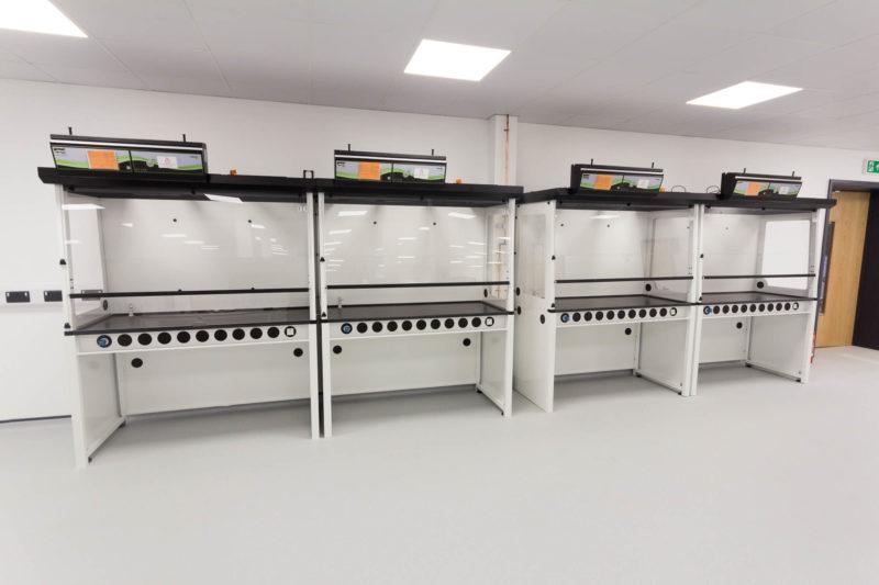 C5147 - Alere Abingdon - Unit 21 - Warehouse Laboratory Convertion Refurbishment - Fume Cupboards
