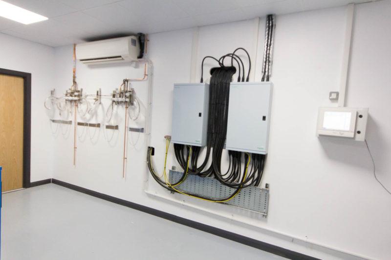 C5147 - Alere Abingdon - Unit 21 - Warehouse Laboratory Convertion Refurbishment - Circuit Boxes Air Con Pipes