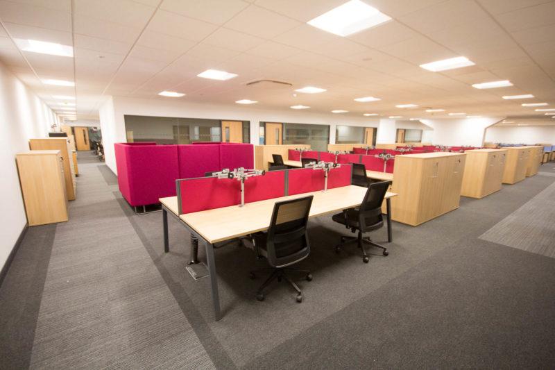 C5147 - Alere Abingdon - Unit 21 - Warehouse Office Convertion Refurbishment - Office Desks Chairs Office Booths Cabinets