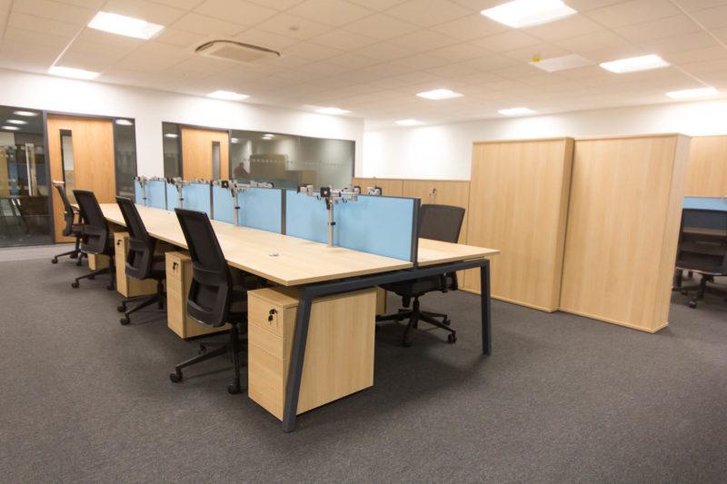 C5147 - Alere Abingdon - Unit 21 - Warehouse Office Convertion Refurbishment - Desks Chairs Office Cabinets
