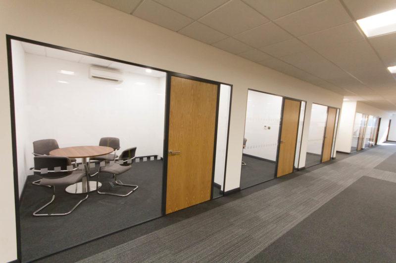 C5147 - Alere Abingdon - Unit 21 - Warehouse Office Convertion Refurbishment - Conference Rooms Offices Desk Chairs Office Corridor
