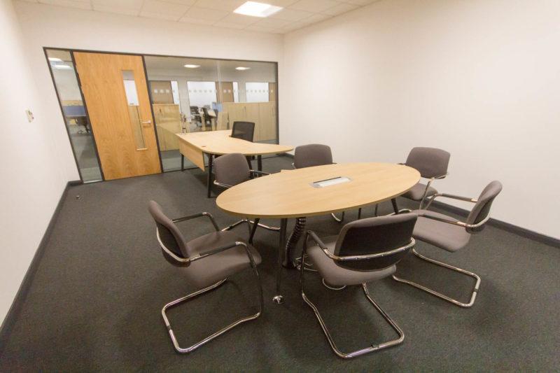 C5147 - Alere Abingdon - Unit 21 - Warehouse Office Convertion Refurbishment - Conference Room Desk Office Chairs