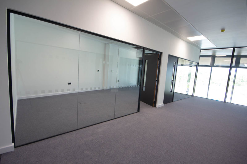 C5253 - Vaccitech - Microbiology Vaccine Lab Corridor Empty Conference Room Office Glass Panel