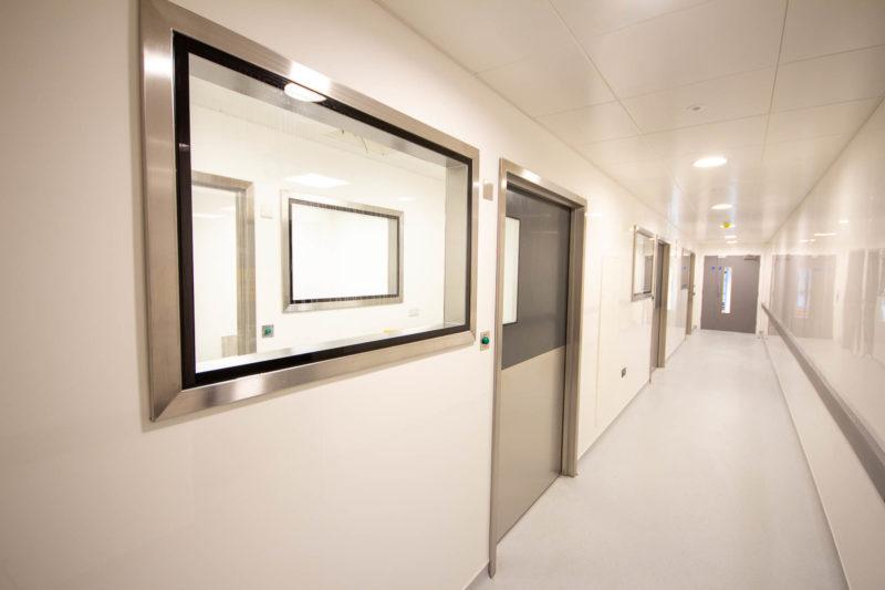 C5301-Pharmaceutical Cellular Quality Control Laboratories- Corridor Security Doors Windows