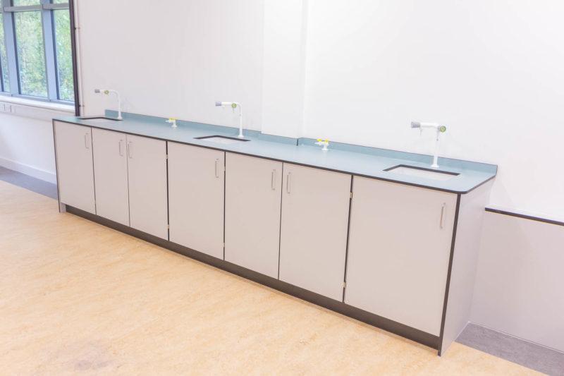 C6018 - Kirklees College PMC Lab - Lab Bench Sink Tap Gas Tap